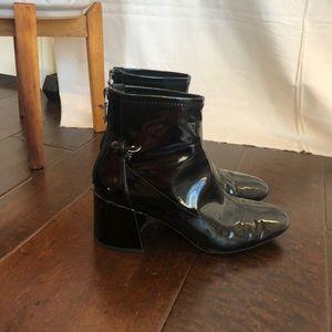 Berska Patent Leather Booties